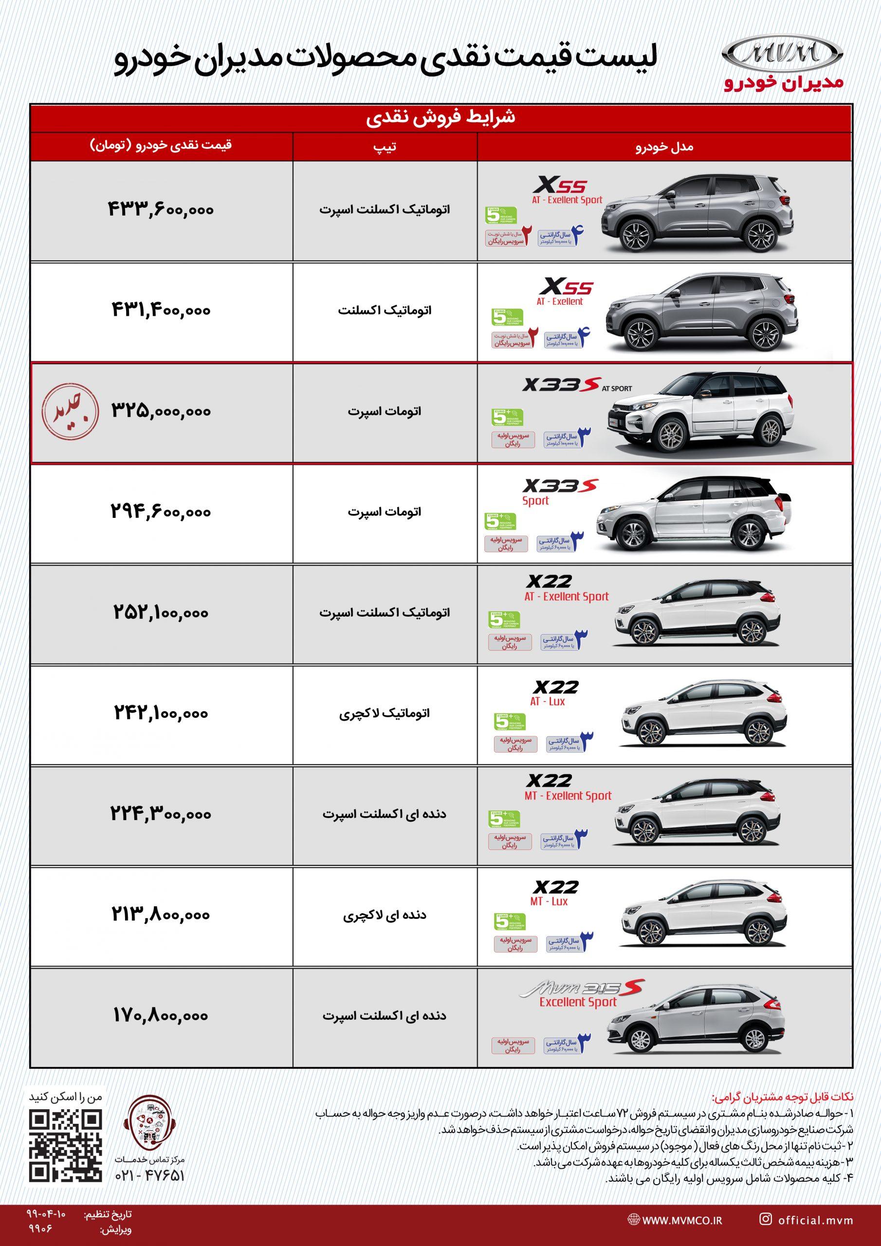 َرایط فروش مدیران خودرو 30 تیر 1399